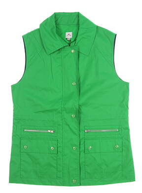 New Womens Peter Millar Vest Small S Green MSRP $225 LF14Z25