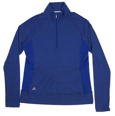 New Womens Adidas Rangewear 1/2 Zip Pullover Large L Blue MSRP $70 BC1814