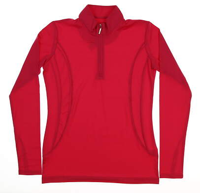 New Womens Sport Haley Golf 1/4 Zip Pullover X-Small XS Pink MSRP $87