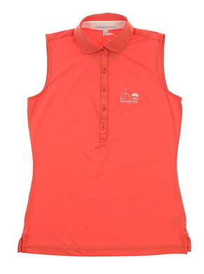 New W/ Logo Womens Fairway & Greene Golf Sleeveless Polo X-Small XS Pink MSRP $85