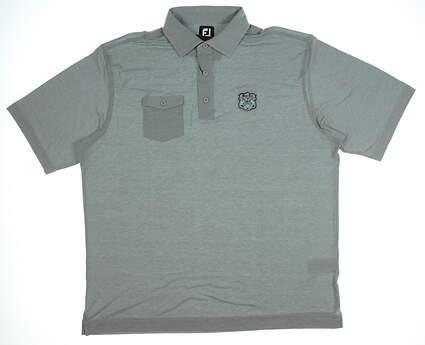 New W/ Logo Mens Footjoy Spun Poly Chest Pocket Polo X-Large XL Gray MSRP $75 22840