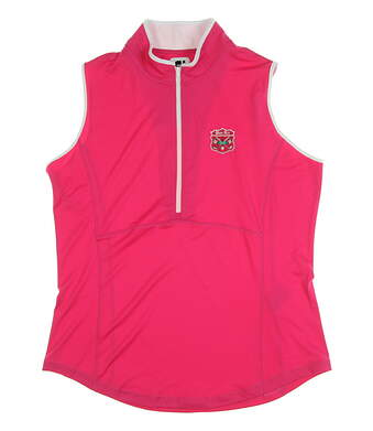 New W/ Logo Womens Footjoy Sleeveless Polo Large L Pink MSRP $75