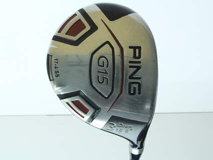 Ping G15 Draw Fairway Wood 3 Wood 3W 15.5* Aldila Serrano 75 Fairway Graphite Stiff Right Handed 42.5 in