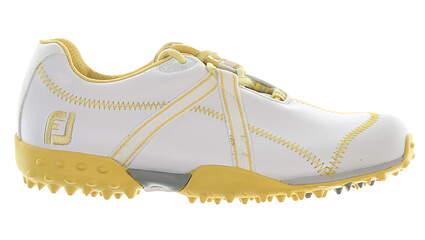 New Womens Golf Shoe Footjoy M Project Medium 6.5 White/Mustard MSRP $180
