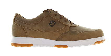New Mens Golf Shoe Footjoy Golf Casual Wide 9 Brown MSRP $140