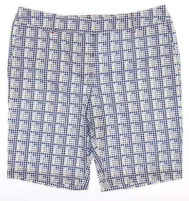 New Womens Cutter & Buck Annika Golf Shorts Size 12 Multi MSRP $95