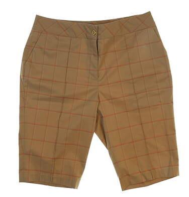 New Womens EP Pro Golf Shorts Size 4 Khaki MSRP $89