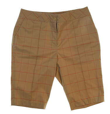 New Womens EP Pro Golf Shorts Size 10 Khaki MSRP $89