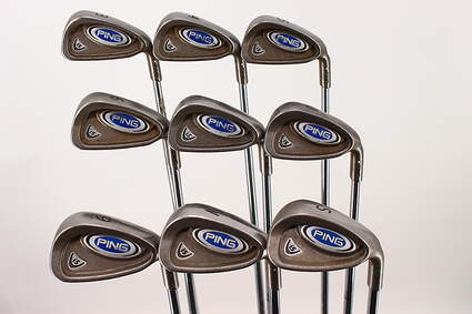 Ping i5 Iron Set 3-PW SW Stock Steel Shaft Steel Stiff Right Handed White Dot 38 in