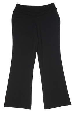New Womens Peter Millar Yoga Pants Size Small S Black MSRP $99