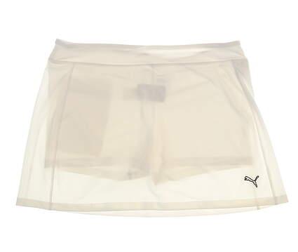 New Womens Puma Golf Skort Size Large L White MSRP $70