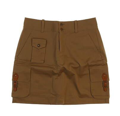 New Womens Ralph Lauren Golf Skort Size 6 Brown MSRP $148