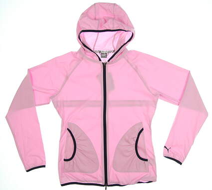 New Womens Puma Zephyr Jacket Small S Pale Pink MSRP $75 577942 04