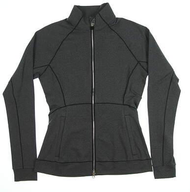 New Womens Puma Vented Jacket Small S Dark Gray Heather MSRP $75 577937 01