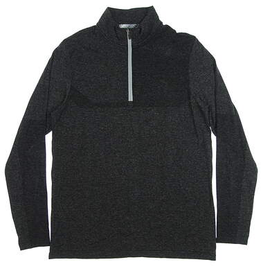 New Mens Puma Evoknit 1/4 Zip Pullover Medium M Puma Black Heather MSRP $85 578794 02