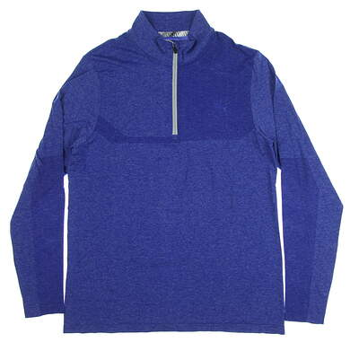 New Mens Puma Evoknit 1/4 Zip Pullover Medium M Surf the Web Heather MSRP $85 578794 05