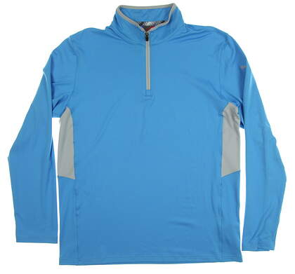 New Mens Puma Proven 1/4 Zip Pullover Medium M Bleu Azur MSRP $80 577900 05