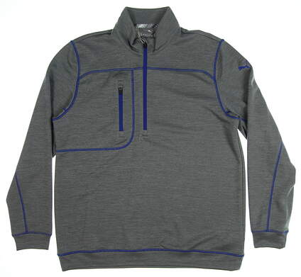 New Mens Puma Go Low 1/4 Zip Pullover Medium M Quiet Shade Heather MSRP $75 577899 03