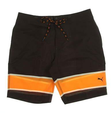 New Mens Puma Hang Ten Shorts Size 32 Chocolate Brown MSRP $75 577909 01