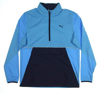 New Mens Puma Retro Wind Jacket Medium M Bleu Azur MSRP $90 577896 01