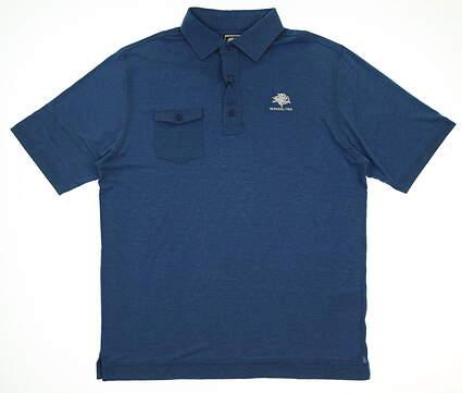 New W/ Logo Mens Footjoy Chest Pocket Polo X-Large XL Blue MSRP $72 22844