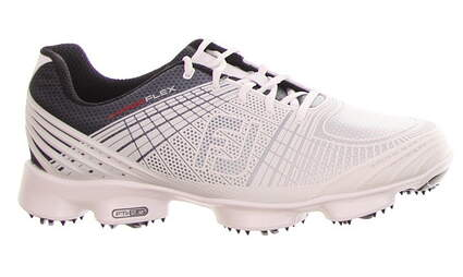 New Mens Golf Shoe Footjoy Hyperflex Medium 9.5 White/Grey/Navy MSRP $200