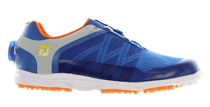 New Womens Golf Shoe Footjoy FJ Sport SL BOA Medium 8 Blue/White MSRP $170