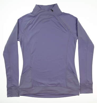 New Womens Puma Brisk 1/4 Zip Pullover Small S Sweet Lavender MSRP $70 577936 03