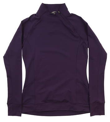 New Womens Puma Brisk 1/4 Zip Pullover Small S Indigo MSRP $70 577936 02