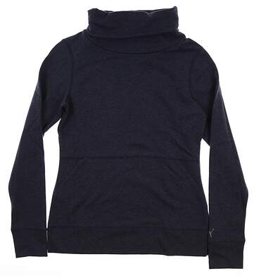 New Womens Puma Brisk Pullover Small S Peacoat MSRP $70 577940 02