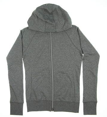 New Womens Puma Brisk Hoodie Small S Medium Gray Heather MSRP $75 577938 01
