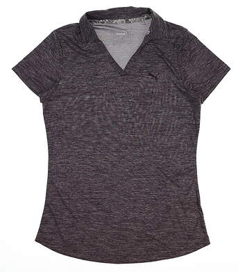 New Womens Puma Softest Polo Small S Indigo Heather MSRP $55 577926 06