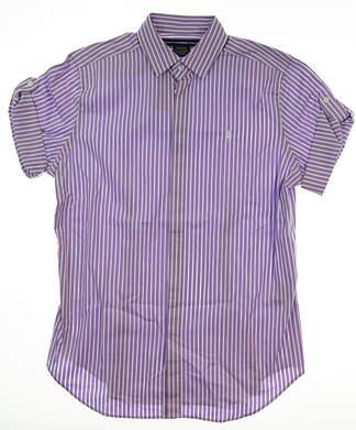 New Womens Ralph Lauren Button Up Medium M Purple MSRP $98 0962679