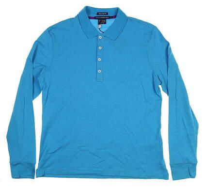 New Ralph Lauren Golf Long Sleeve Polo Large Blue