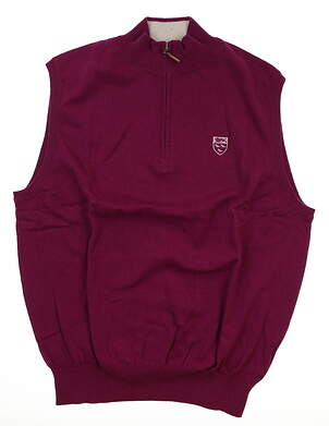 New W/ Logo Mens Peter Millar Sweater Vest Large L Pink MSRP $168