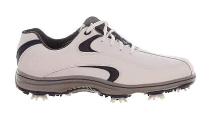 New Mens Golf Shoe Footjoy Contour Series Medium 11.5 White/Navy MSRP $110
