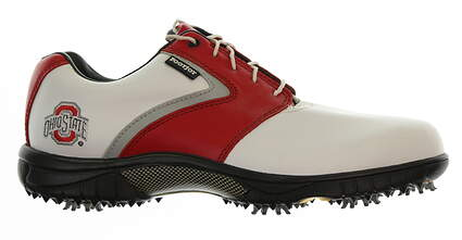 New Mens Golf Shoe Footjoy My Joys Medium 10 White/Red/Grey MSRP $200