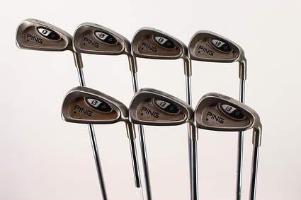 Ping i3 + Iron Set 3-9 Iron True Temper Steel Stiff Right Handed Black Dot 37 in