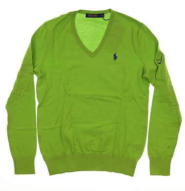 New W/ Logo Womens Ralph Lauren Sweater Medium M Green MSRP $128