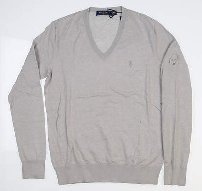 New W/ Logo Womens Ralph Lauren Sweater Small S Gray MSRP $128