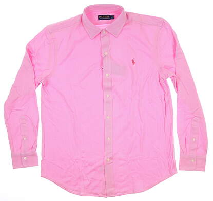 New Mens Ralph Lauren Button Up Large L Pink MSRP $99