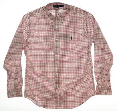 New Mens Ralph Lauren Button Up Medium M Red MSRP $99