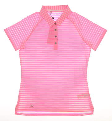 New Womens Adidas Golf Polo Small S Pink MSRP $65