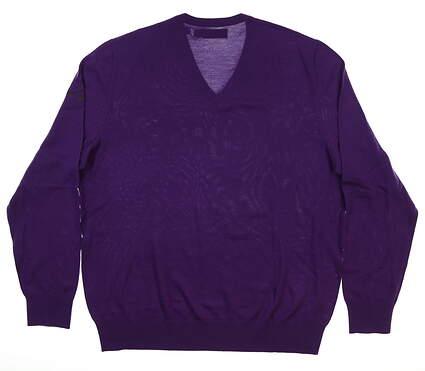 New W/ Logo Mens Ralph Lauren Sweater Large L Purple MSRP $188