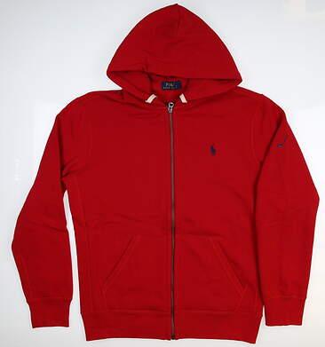 New W/ Logo Mens Ralph Lauren Sweatshirt Medium M Red MSRP $99