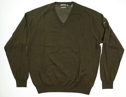 New W/ Logo Mens Peter Millar Sweater XX-Large XXL Green MSRP $200 MF14S31