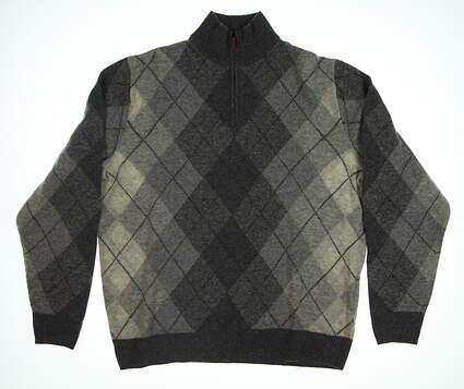 New Mens Ralph Lauren 1/4 Zip Sweater Large L Gray MSRP $265 0117362