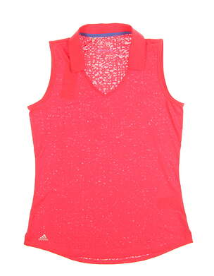 New Womens Adidas Sleeveless Golf Polo Small S Red MSRP $55 AE4921