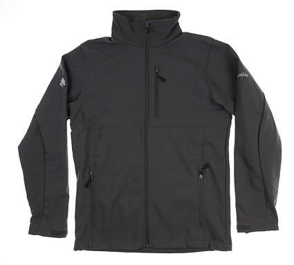 New W/ Logo Mens Columbia Rain Jacket Small Gray MSRP $97