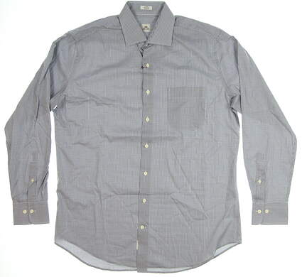 New Mens Peter Millar Golf Button Up Large L MSRP $125 MF16W30CSL